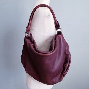 Liebeskind Berlin Washed Leather Maroon Satchal